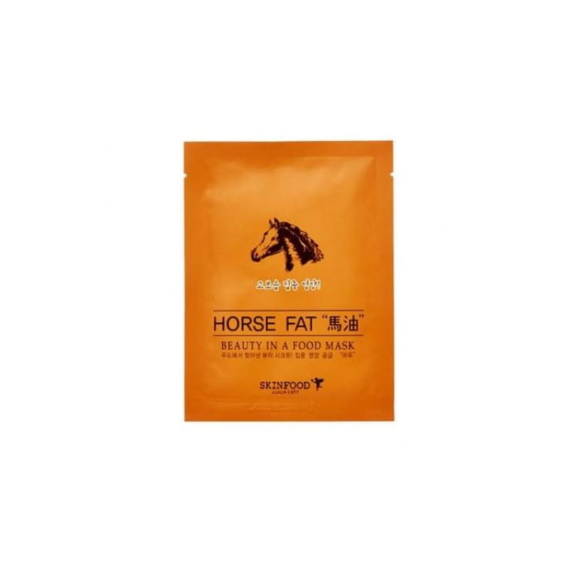 Тканевая маска с конским жиром SKINFOOD Beauty In A Food Mask Sheet Horse Fat