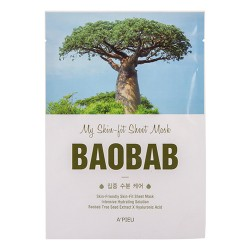 Тканевая маска с экстрактом баобаба A'PIEU My Skin-Fit Sheet Mask Baobab