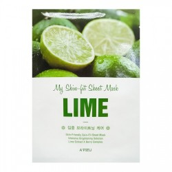 Tканевая маска с экстрактом лайма A'PIEU My Skin-Fit Sheet Mask Lime