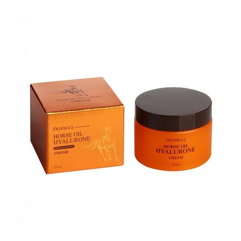 Крем для лица Deoproce Horse oil hyalurone cream