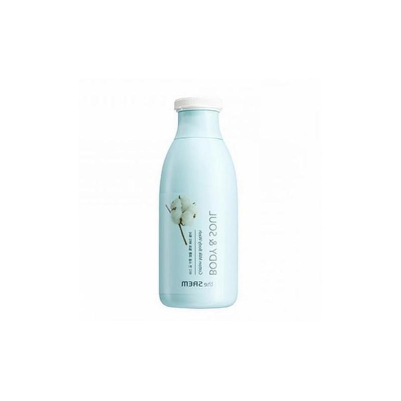 Гель для душа молочный Saem Body & Soul Cotton Milk Body